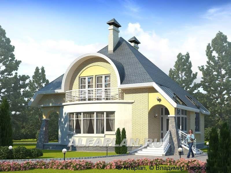 Проект кирпичного дома k00144.