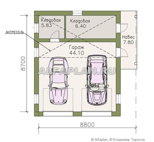 Столбчатый фундамент для каркасного гаража