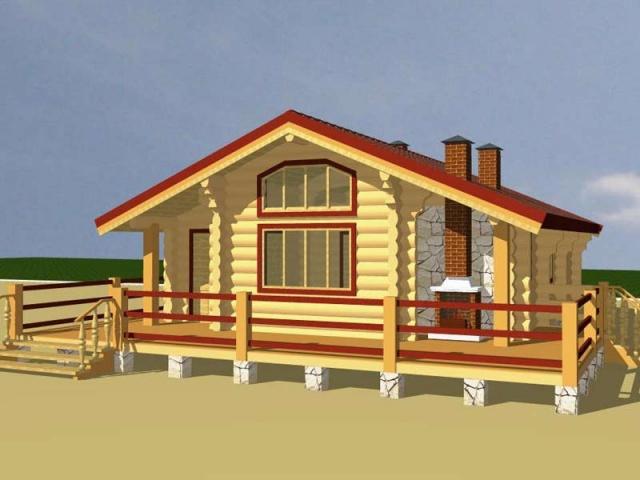 Деревянный дом. Проект Д12